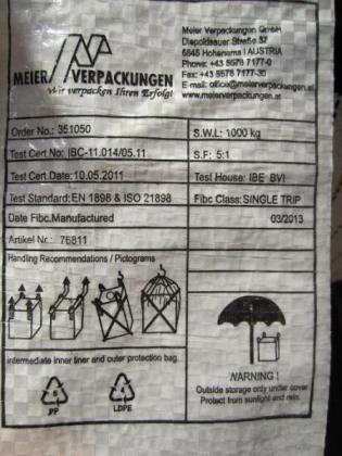 gebrauchte Big Bags um 1,30 bei Wien