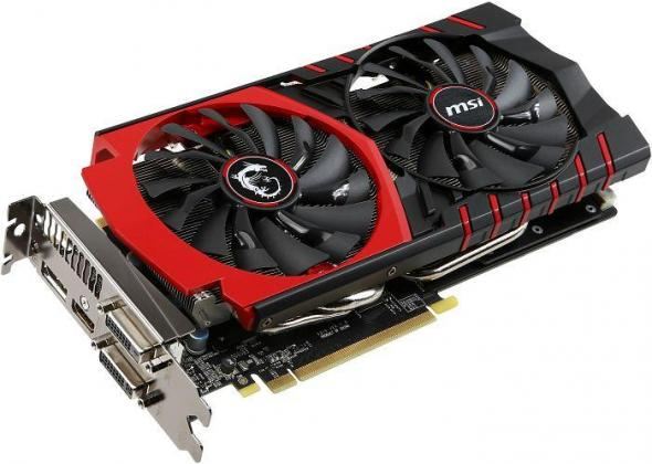 MSI GTX 970 Gaming 4G, GeForce GTX 970, 4GB GDDR5, 2x DVI, HDMI, DisplayPort