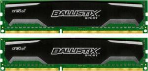 Crucial Ballistix Sport DIMM Kit 8GB, DDR3-1600, CL9-9-9-24