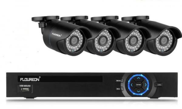 FLOUREON CCTV Videoüberwachung Set Überwachungssystem 8 Kanal 960H DVR Onvif 1080P NVR 1200TVL Au�