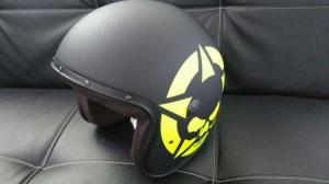 Caberg FREERIDE SKULLVIZION Jethelm - matt schwarz gelb Größe L