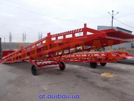 Transportable Auffahrrampe  Ausbau