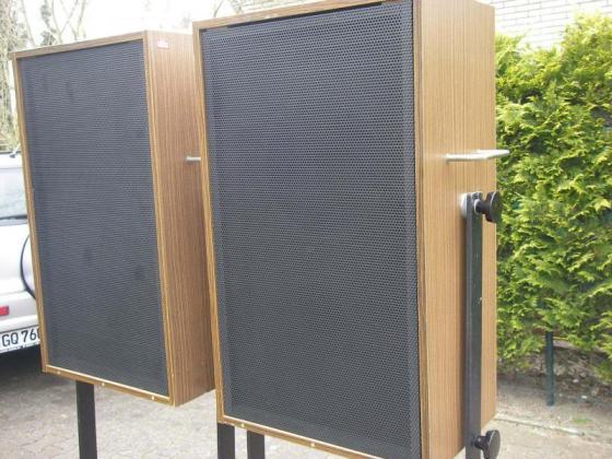 Paar Vintage Studiomonitor O6-3 mit Schulz TH315-1-O18a aus der Klangfilm-Ära