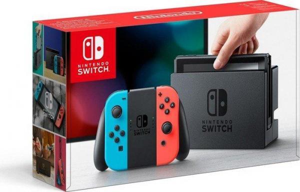 Nintendo Switch schwarz/blau/rot