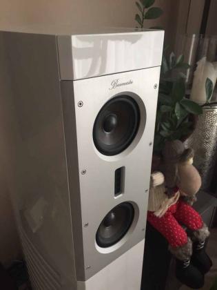 Burmester B50 High End Lautsprecher - Carrera Weiß