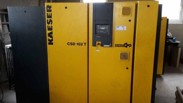 Kaeser CSD 102 T Schraubenkompressor mit Trockner Baujahr 2010