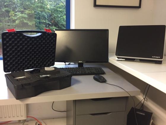 D700 3shape Scanner komplettes System, offen