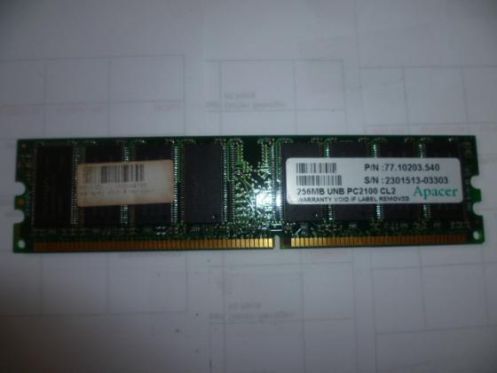 Zu Verkaufen 256 MB UNB PC 2100 CL2 Apacer  Nr. 17