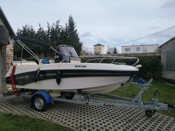 Motorboot Am Yacht AM 490 mit trailer TOP