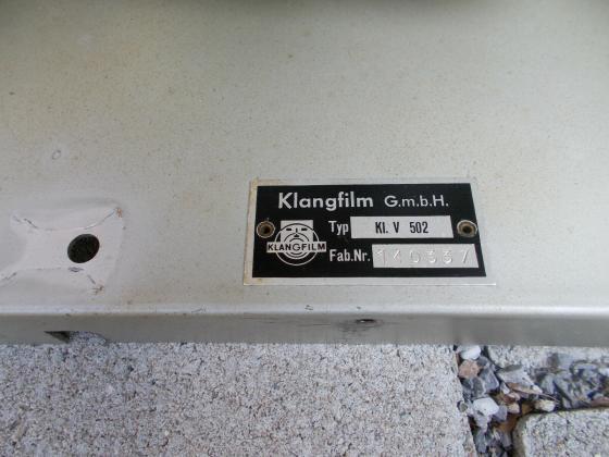 KLANGFILM KL.V 502 Verstärker