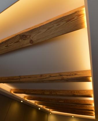Handgehackte Balken - für originale Dekoration - ALLDECO