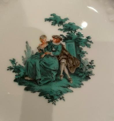 Kaffeeservice von Meissen, Watteaumalerei, für 6 Personen