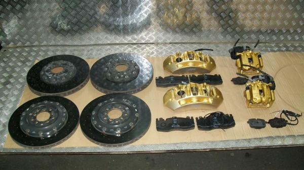 BMW F10 M5 F12 F13 F06 M6 CERAMIC BRAKE DISCS CALIPERS GOLD BREMSSCHEIBE KERAMIK
