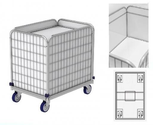Rollwagen mit Federboden, Wäschewagen (Transportwagen) für Wäschelogistik.