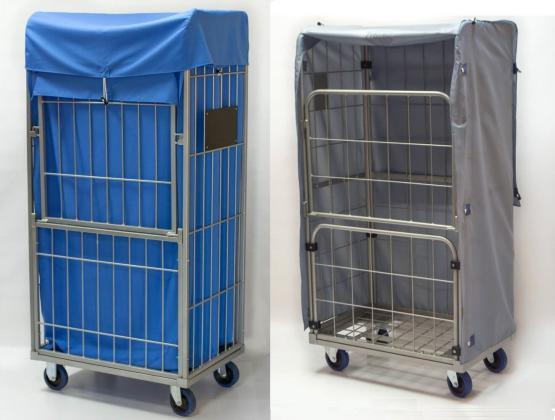 Textil- Hauben (Innen- und außen) für Rollcontainer (Gittercontainer)